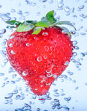 Red strawberry water Stock Photo