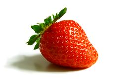 Red strawberry on the white background Royalty Free Stock Image