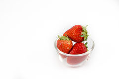Red strawberry on white background Royalty Free Stock Photography