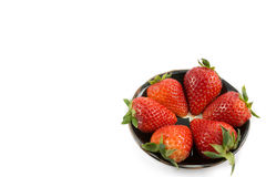 Red strawberry on white background Stock Photography