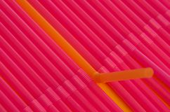 Red straws Stock Photography