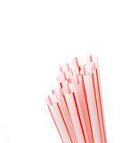 Red straws Royalty Free Stock Image