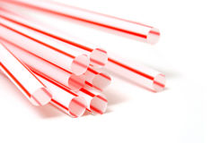 Red straws Royalty Free Stock Photography