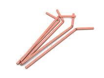 Red straws Stock Image