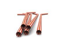 Red straws Royalty Free Stock Photo