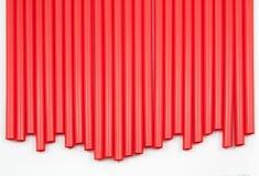 Red straws Stock Photos