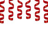 Red streamers on a white background.Vector illustration. Red streamers on a white background.Vector illustration Stock Photo