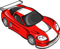 Red Street Car Racer. Vector Illustration Royalty Free Stock Images
