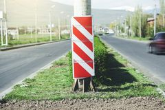 Red street sign royalty free stock photo