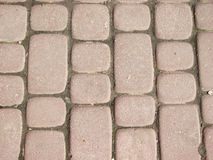 Red street tiles 2 Royalty Free Stock Image