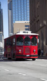 Red streetcar Stock Images