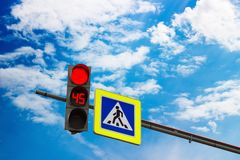Red streetlight signal Royalty Free Stock Photo
