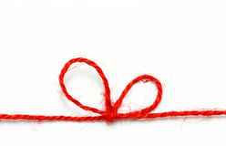 Red string bow Stock Photo