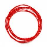 Red string circle Stock Image