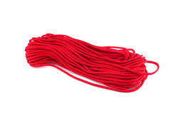 Red string yarn isolated on white Royalty Free Stock Photography