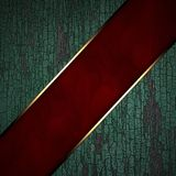Red strip on a wooden background Stock Image