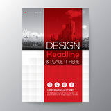 Red stripe graphic background for Brochure annual report cover flyer. Poster design Layout vector template in A4 size Stock Image