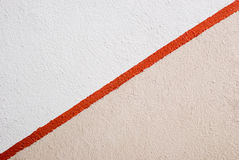 Red Stripe Painted Stock Photo
