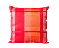 Red stripe pillow Royalty Free Stock Photos