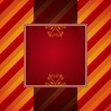 Red striped background with decorative ornaments Stock Images