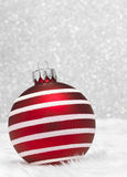 Red Striped Bauble Royalty Free Stock Photos