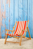 Red striped beach chair Royalty Free Stock Image