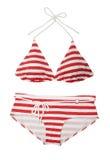 Red Striped Bikini Stock Photo