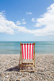 Red Striped Deckchair Royalty Free Stock Photography