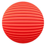 Red striped decoration ball Stock Image