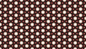 Red striped diamond design on black background Royalty Free Stock Image