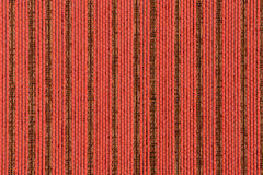 Red striped fabric. Closeup detail of Red striped fabric texture background Stock Photography