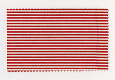 Red Striped fabric sample Stock Photography