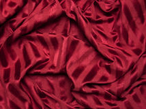 Red Striped Fabric Royalty Free Stock Images