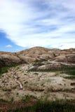 Red striped hills, Badlands National Park, South Dakota Stock Photography