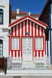 Red striped houses, Costa Nova, Beira Litoral, Portugal, Europe Stock Image
