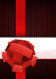 Red striped luxury layout with ribbon text place vector Stock Photography