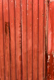 Red striped metallic rusty roof Royalty Free Stock Photos