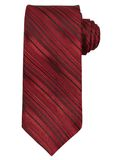 Red striped necktie isolated on white background. Royalty Free Stock Photos