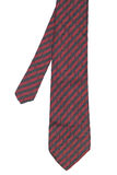 Red striped necktie on white background Stock Photography