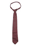 Red striped necktie on  white background Stock Image