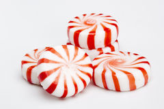 Red Striped Peppermints stock photos