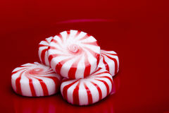 Red Striped Peppermints Stock Photography