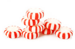 Red striped peppermints Royalty Free Stock Image
