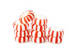 Red striped peppermints Stock Image