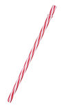 Red, striped plastic straw Royalty Free Stock Photography