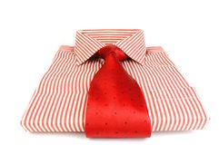 Red striped shirt Stock Photography