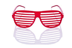 Red striped sunglasses Stock Photo