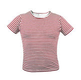 Red striped T-shirt. Front. Stock Photography