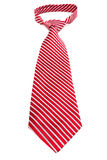 Red striped tie with a knot Royalty Free Stock Photo