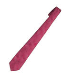 Red striped tie, necktie, isolated on white. Royalty Free Stock Images